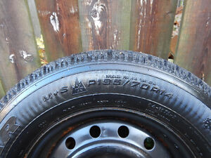 4 Goodyear Nordic Winter Tires with Rims Cambridge Kitchener Area image 3