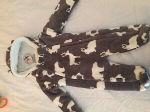 Baby fleece soft snowsuit new with tags