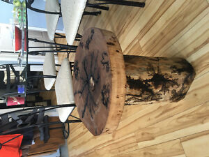 Hardwood end table! One of a kind!