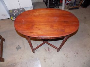 OLD REFINISHED OVAL TABLE