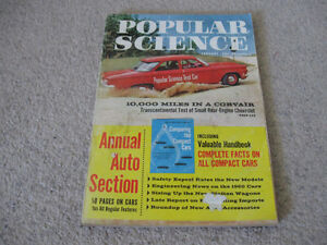 Vintage 50s/60s Popular Science Magazines-Fair/good-$10 each