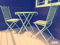 Folding Patio Table And Chairs  SOLD PENDING PICKUP.