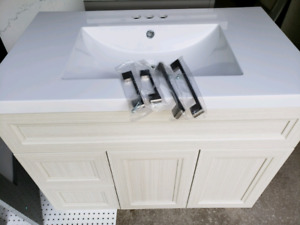 "36"" Shaker Style Vanity with Top"