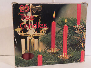RED CHRISTMAS TREE CANDLES 20 IN BOX London Ontario image 1
