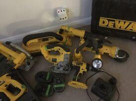 Dewalt tool set kit hammer drill Hoover etc