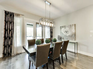 SHOWHOME FURNITURE - TABLE and 6 CHAIRS