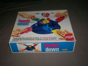 "VINTAGE 100% COMPLETE ""HANDS DOWN"" GAME by IDEAL 1964"