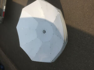 "Eight white 48"" parabolic reflector"