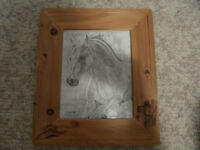 hand drawn print/hand crafted frame