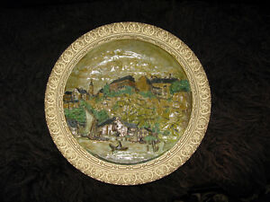 Wilhelm Schiller and Son - Large Ceramic Plate - Late 19 century