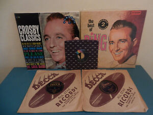 Vinyl Records/LP's/78 RPM Bing Crosby Lot of 5