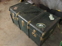Antique trunk - Ideal coffee table