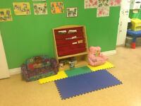 15-24 month old daycare space available!