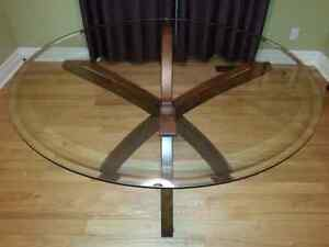 "48"" glass top dining table"