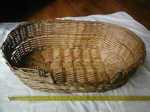 wicker basket pet bed  $10