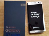 Samsung Galaxy S7 Edge 32GB Platinum Gold - Immaculate and boxed. Fast Charger.