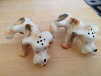 Vintage Dogs Urinating Salt And Pepper Shakers