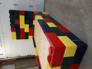 Child's toy block bed
