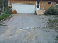 drive way stones need gone