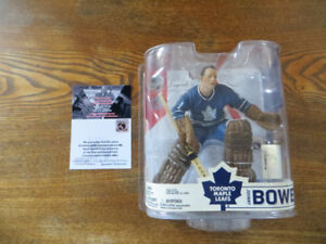 FIGURINE MCFARLANE signée JOHNNY BOWER  SÉRIE 6 HOCKEY