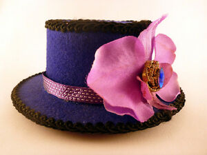 Summer Orchid Mini Top Hat Fascinator