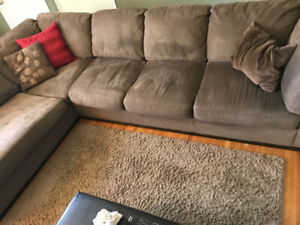 Microfibre, brown sectional