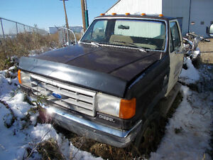 1991 F-350 1 TON  DIESEL  NO  BOX  AS IS  RUNS WELL