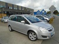 2010 (59) VAUXHALL ZAFIRA 1.6 16v EXCLUSIV Silver 7 Seater A/C Low Mileage FSH