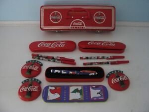 COCA COLA COLLECTABLES  PENS TIMER TINS ETC $10.00 ALL
