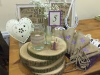 *********SOLD*********Rustic wedding accessories