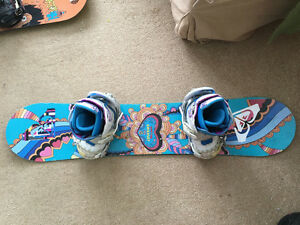 Women's snowboard set