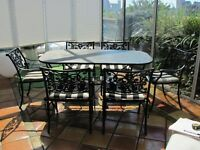 Ensemble de patio noir Hauser black table and chairs patio set