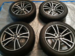 "PERFECT CONDITION 18"" MUSTANG PREMIUM RIMS ON BRAND NEW TIRES"
