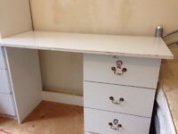 #Open to offers # Desk / dressing table three drawers - shabby chic