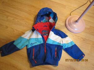 2 manteaux doublés - print. et automne 4 et 5 ans