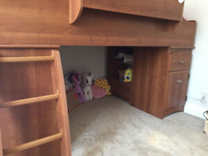 Kids bunk/loft style bed with storage