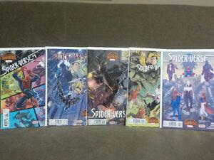 Marvel Secret Wars Spiderverse Comp. 1-5 (#4 has printing crease