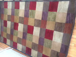 5' x 8' Colored Square Pattern Rug