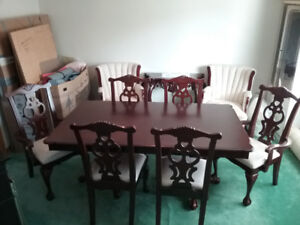 Dining room set and matching China cabinet for sale