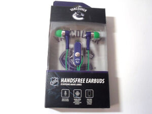 Vancouver Canucks Hands-Free Headphone/Earbuds With Built-In Mic
