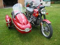 Motorcycle, 1974 BMW 90/6 with sidecar