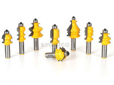 - 8 Pc. Architectural Molding Router Bit Package Kit