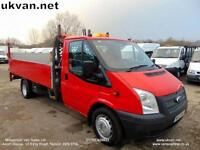 2013 13 FORD TRANSIT DROPSIDE, PICK UP, EXTENDED FRAME, FSH, TAIL LIFT,