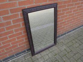 Mirror with dark frame