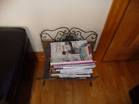 Metal and wicker Magazine Rack
