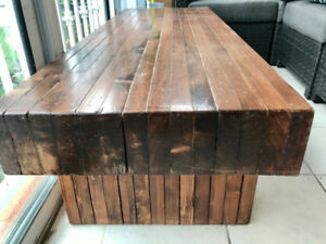 Reclaimed Wood Coffee Table / Bench
