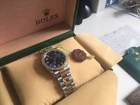 Blue face Rolex datejust