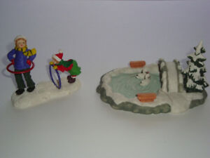 Two Vintage Accessory Pieces for Christmas Village - Lot 10