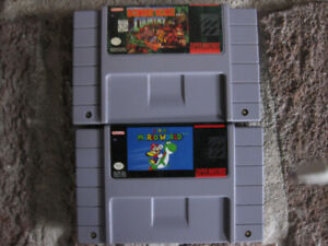SUPER MARIO WOLRD  ET DONKEY KONG COUNTRY 1