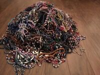 Hundreds of beaded necklaces